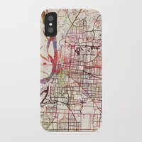 memphis iPhone & iPod Cases featuring Memphis by MapMapMaps.Watercolors