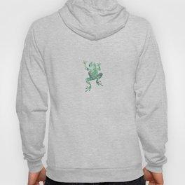 green lichen crawling frog silhouette Hoody