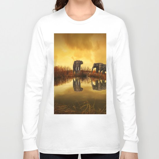 The Herd (Elephants) Long Sleeve T-shirt