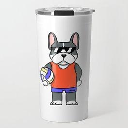 German boxer dog volleyball sports gift Travel Mug
