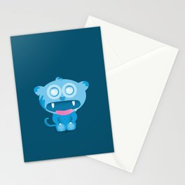 hungry monster Stationery Cards