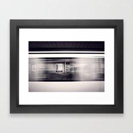 metro long exposure Framed Art Print