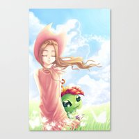 digimon Canvas Prints featuring Digimon Dream Mimi by dawnshue