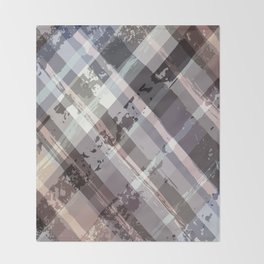 Crossword Traditional Quilt Pattern Throw Blanket