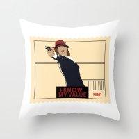 agent carter Throw Pillows featuring Agent Carter  by amyskhaleesi