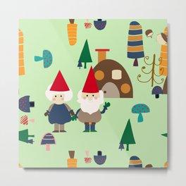 gnome green Metal Print