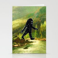 sasquatch Stationery Cards featuring Sasquatch by Andy Detskas