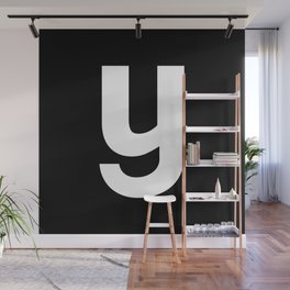 letter Y (White & Black) Wall Mural