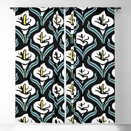 Calla Lily Pattern Blackout Curtain