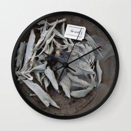Be Well: Sacred Smoke Wall Clock
