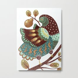 A Partridge In A Pear Tree II Metal Print