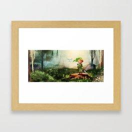 Link in the Woods Framed Art Print
