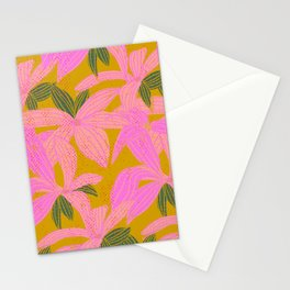 Fluorescent Flowers Stationery Cards
