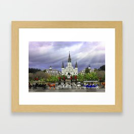 In Christmas Mist Framed Art Print