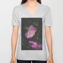Moody Pink Camellia Unisex V-Neck