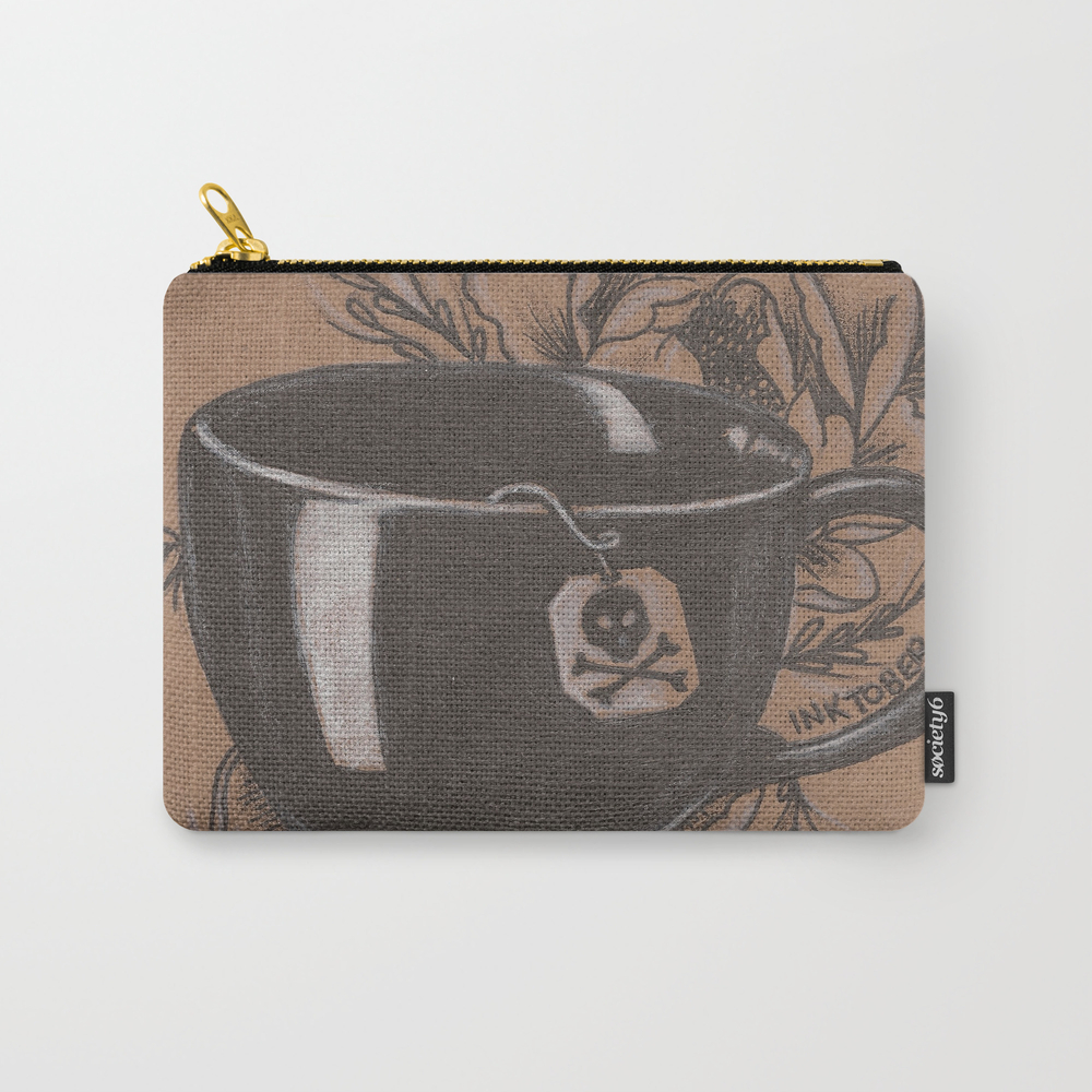 Not Everyone's Cup Of Tea Carry-all Pouch by Jadepowelljones CAP7893902