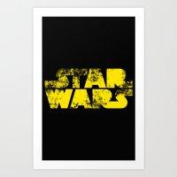 starwars Art Prints featuring StarWars  by WaXaVeJu