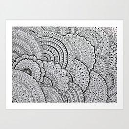 Бесконечность линий Art Print