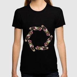 Sock Monkey Water Ballet Vertical T-shirt