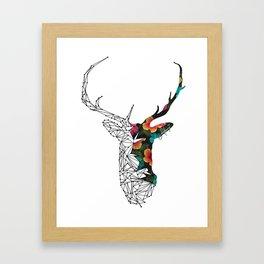 STAG FLORAL Framed Art Print
