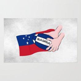 Samoa Rugby Flag Rug