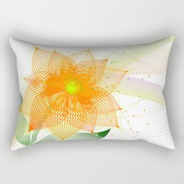 Fancy colorful abstract flower Rectangular Pillow