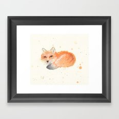 Fox revisited in Watercolor Framed Art Print