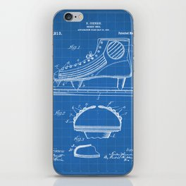 Ice Hockey Skates Patent - Ice Skates Art - Blueprint iPhone Skin