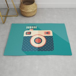 Camera with Flash Rug