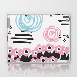 Scandinavian style flowers field Laptop & iPad Skin