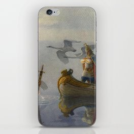 King Arthur and Excalibur iPhone Skin