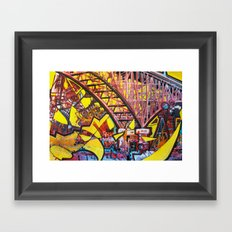 Aurora Bridge Framed Art Print