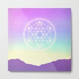Sacred Geometry (Sacred Merkaba) Metal Print
