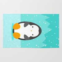 penguin Area & Throw Rugs featuring Penguin by eDrawings38