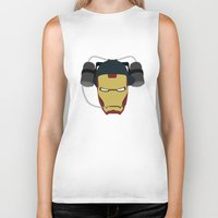 stark Biker Tanks featuring Stark Industries by Imagemagnet