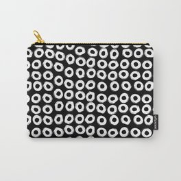 Grunge White Circles Carry-All Pouch