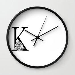 K letter Wall Clock