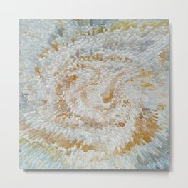 Abstract gold roses Metal Print
