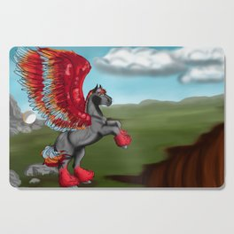 Flames and Feathers Cutting Board
