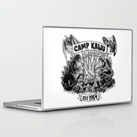 kaiju Laptop & iPad Skins featuring Camp Kaiju by Austin James