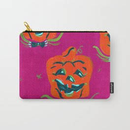 Purple Happy Jacks Carry-All Pouch