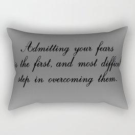 Admitting Your Fears Rectangular Pillow