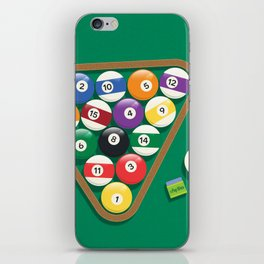 Billiard Balls Rack - Boules de billard iPhone Skin