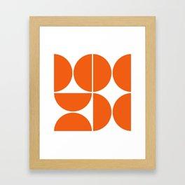 Mid Century Modern Orange Square Framed Art Print