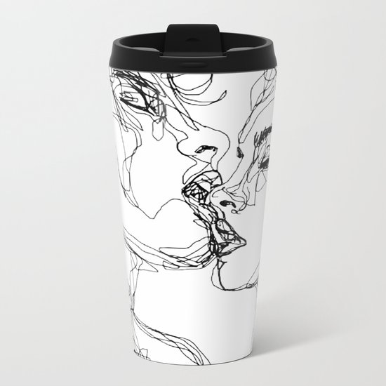kiss more often (B & W) Metal Travel Mug