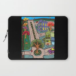 Sunday Morning Country Town  Laptop Sleeve