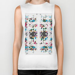 basic Shapes Pattern 3 - Diamonds Biker Tank
