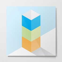 The Geometric - One Metal Print