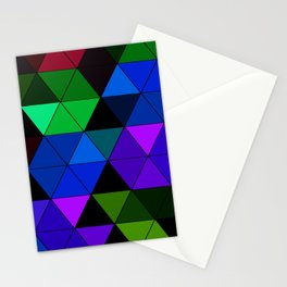 Colorful Triangle Mosaic Stationery Cards