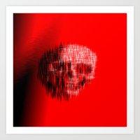 Etched Skull Art Print